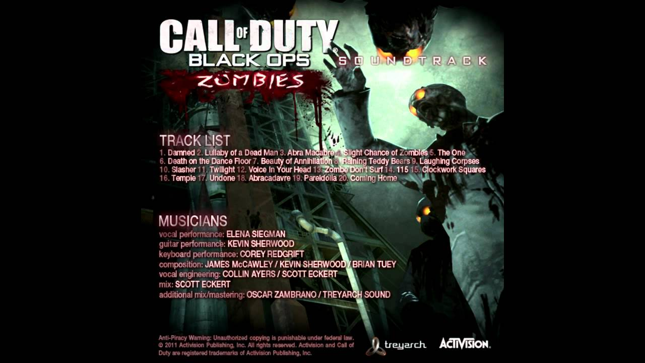 Call of duty black ops 1 zombies song