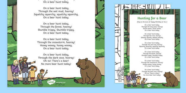 Bear in the forest song