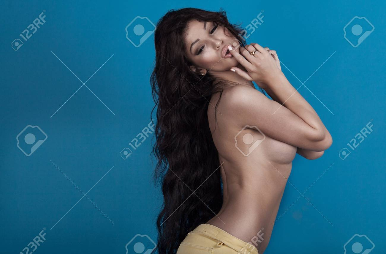 Curly black hair sexy girl naked