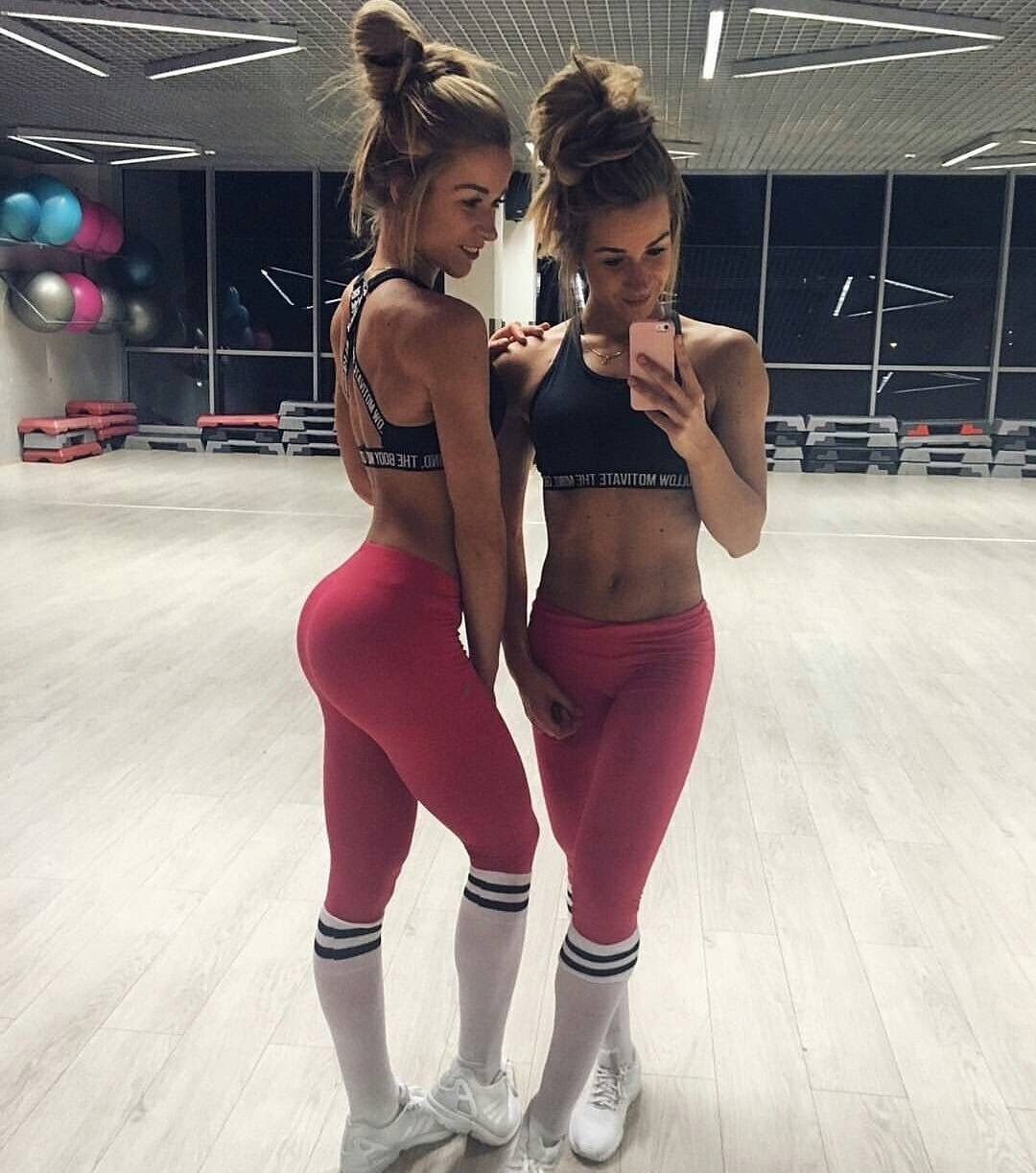 Young nonude girls in yoga pants
