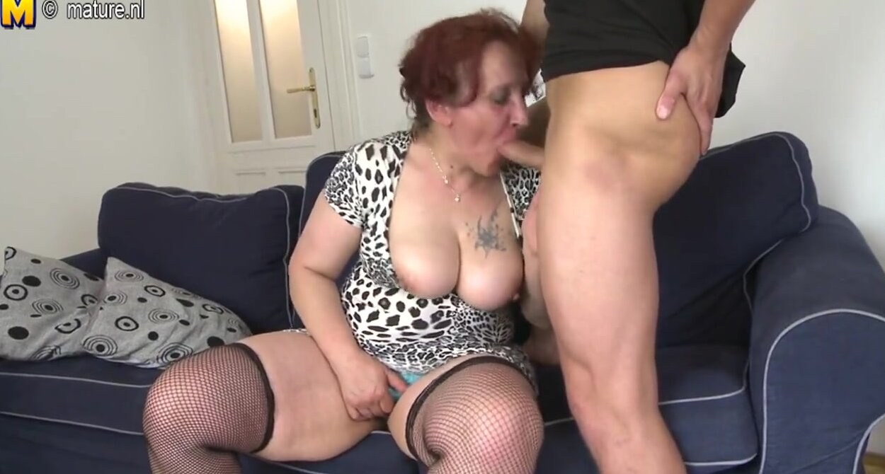 Granny fucked by young